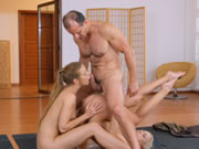 Yoga Girls Get Creampied In A Yoga Class